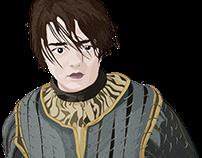 ARYA STARK(de Game Of Thrones) VETORIZADA