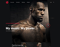 Beats Ecommerce Homepage Website/UI Template Design