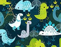 Cute Dino Print