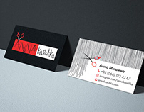 Corporate style and logo for the stylist-hairdresser