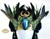 COVEN QUEEN Horn Headdress