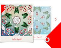 Postal de Natal Vodafone - Caleidoscópio
