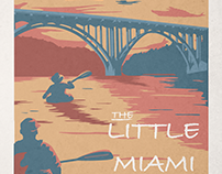 Vintage Little Miami River Poster