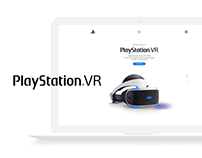 Playstation VR | Landing Page Concept