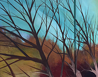 Landscape paintings by Sarah Adam