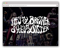 He's My Brother, She's My Sister Website Design