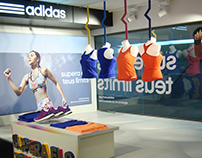 Escaparate e Interior de Adidas running
