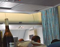 Airplane curtains for Tahiti Nui