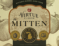 Virtue Cider Packaging Illustrated by Steven Noble