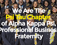 AKPsi - Psi Tau Chapter Website