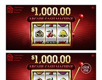Instant Win games-Arcade Cash machine