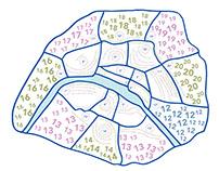 Paris Memories Map
