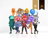 Urban Wildlife - 3D Character Design