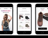 Fashionist - iOS clothes shop app concept