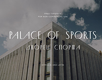 Palace of Sports | Free typeface