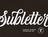 Subletter Script Typeface