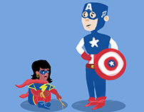The Shortest Tale featuring Cap and Ms.Marvel