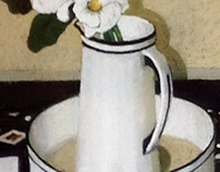 White Jug and Magnolias. 570 x 540