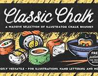 Classic Chalk - Illustrator Brushes and more!
