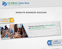 GLOBAL Entry Test Website Banners