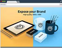 Free PSD HQ Branding Material Mockup