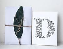 Botanical letter alphabet
