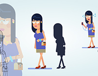 character design flat design \ motion graphics