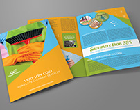 Cleaning Services Bi-Fold Brochure Vol.2