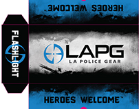 LAPG Knife, Reservoir & Flashlight Packaging Design