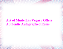 Art of Music Las Vegas : Offers Authentic Autographed I