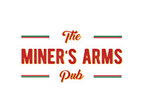 The Miners Arms Pub logo design
