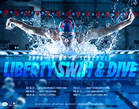 2018 Liberty Swim & Dive Schedule Poster