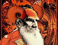 Boroda Tolstogo, collage portraits of Leo Tolstoy