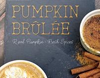 Seasonal Drink Promotion Fall Poster: Pumpkin Brûlée