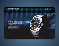 A concept for an e-commerce home page.
