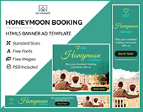 Honeymoon Booking Banner- HTML5 Banner Ad Templates