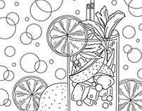 Coloring pages - Food