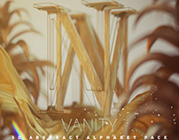 VANITY 3D Abstract Alphabets