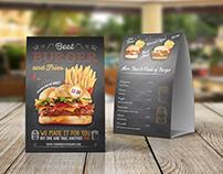 Burger Restaurant Table Tent Template Vol.2