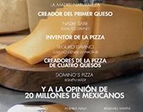 Domino's Pizza, 4 Cheeses Credits