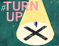 #TurnUp - General Election 2017 Campaign Illustration