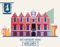 :::UK Pubs that changed history (infographic):::