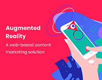 A web-based AR content marketing solution ux/ui design