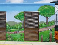 Warwick Grove Roof Mural