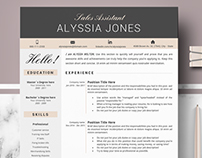 Modern CV / Resume Template for Word and Iwork Pages