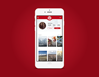 Daily UI #006 User profile -Pinterest Redesign