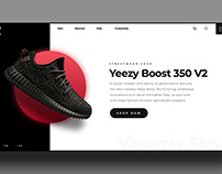 Web Design - Yeezy Boost Inspired by a youtuber
