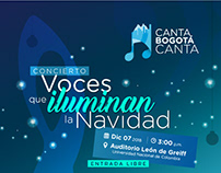 """Concierto Navideño """"Canta, Bogotá canta"""""""