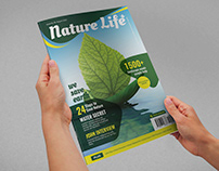 Nature Life Magazine Cover Template