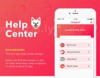 help center design